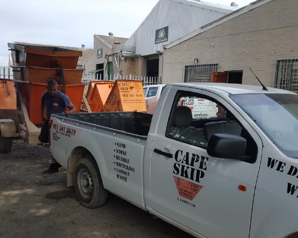 skip rental cape town